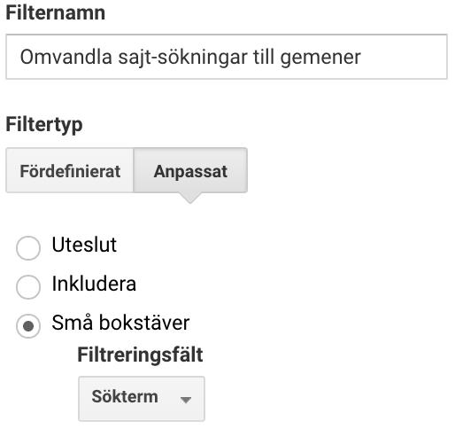 Vy-filter som enbart inkluderar trafik från simonmyringer.com.