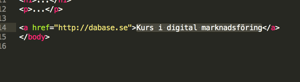 Ankartexten i HTML.